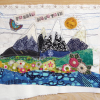 Fabric Mountain textile art