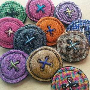buttons brooches