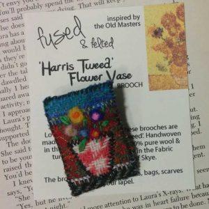 harris tweed brooch