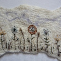 Wet Felting and Stitching