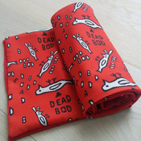 deadbod scarf red