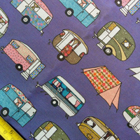Vintage camping fabric – purple