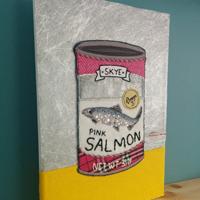 Skye Salmon textile art