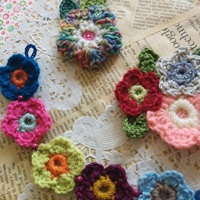 Crochet flower jewellery
