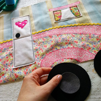 Mollie Makes vintage caravan cushion project