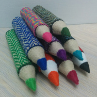 Harris Tweed Pencil brooches