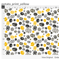 Potato print fabric – yellow
